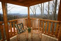 ROCKERS ON UPPER DECK at BEARWAY TO HEAVEN in Sevier County TN