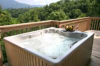 HOT TUB at XPERFECT POINTE OF VIEW in Sevier County TN