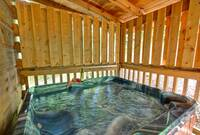 HOT TUB at DREAMCATCHER in Sevier County TN