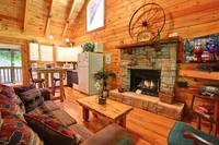 LIVING AREA at DREAMCATCHER in Sevier County TN