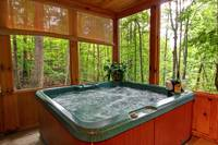 HOT TUB at BEAR TOP HIDEAWAY in Pigeon Forge TN