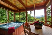 HOT TUB at SMOKYVIEW SECLUSION in Sevier County TN