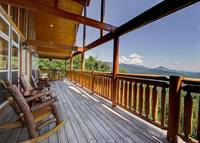UPPER DECK at MAJESTIC ESCAPE in Sevier County TN
