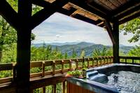 VIEW FROM HOT TUB at WILDWOOD in Sevier County TN