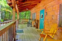 FRONT DECK at BEN'S HIDEOUT in Sevier County TN