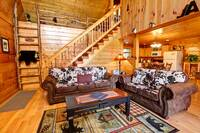 LIVING AREA at HAZY DAYS in Sevier County TN