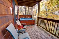 DECK at HAZY DAYS in Sevier County TN