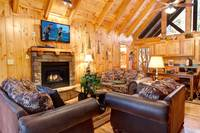 LIVING AREA at WHISPERING WINDS in Sevier County TN