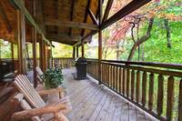 DECK at WHISPERING WINDS in Sevier County TN