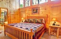 BEDROOM 2 at WHISPERING WINDS in Sevier County TN