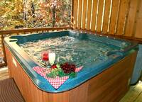 HOT TUB (FALL) at AUTUMN BREEZE in Sevier County TN