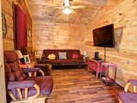 LIVING AREA at XANGELS HIDEOUT in Sevier County TN