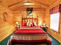 BEDROOM 1 at XANGELS HIDEOUT in Sevier County TN