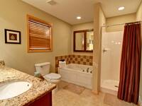 BATHROOM W/ JACUZZI TUB at X2nd to NONE in Pigeon Forge TN