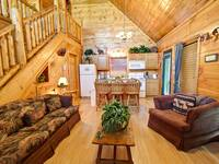 LIVING AREA at ASLEEP BY THE CREEK in Sevier County TN