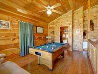 POOL TABLE at ASLEEP BY THE CREEK in Sevier County TN