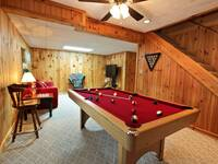 POOL TABLE at COUNTRY CHARM in Sevier County TN