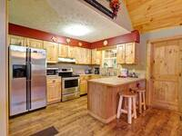 KITCHEN at THE TREEHOUSE LODGE in Pigeon Forge TN