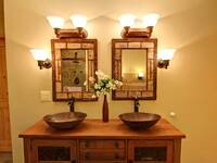 BATHROOM  at THE TREEHOUSE LODGE in Pigeon Forge TN