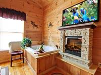 JACUZZI (BEDROOM 1) at OVER THE HILL in Sevier County TN
