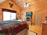 BEDROOM 1 at OVER THE HILL in Sevier County TN