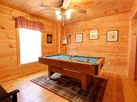 GAMEROOM at OVER THE HILL in Sevier County TN