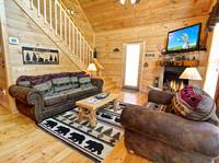 LIVING AREA at OVER THE HILL in Sevier County TN