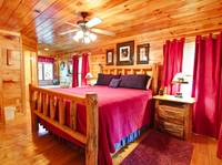 BEDROOM 1 (MAIN LEVEL) at APPLESEED in Sevier County TN
