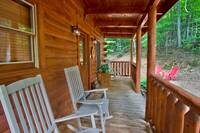 ROCKERS ON FRONT DECK at BEAR TOP HIDEAWAY in Pigeon Forge TN