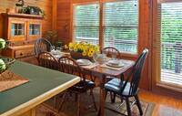 DINING TABLE at HEMLOCK HIDEAWAY in Sevier County TN