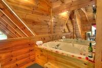 JACUZZI (LOFT) at UNFORGETTABLE in Sevier County TN