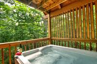 HOT TUB at UNFORGETTABLE in Sevier County TN