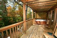 BACK DECK at UNFORGETTABLE in Sevier County TN
