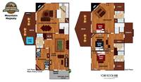 UNIT LAYOUT at MOUNTAIN MAJESTY in Sevier County TN