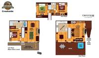 UNIT LAYOUT at CREEKSIDE in Sevier County TN