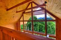 VIEW FROM LOFT at MAJESTIC VIEW in Gatlinburg TN