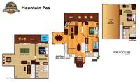 UNIT LAYOUT at MOUNTAIN PAS in Pigeon Forge TN