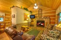 LIVING AREA at SWEET SECLUSION in Pigeon Forge TN