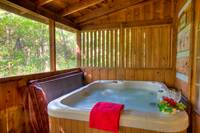 HOT TUB at SWEET SECLUSION in Pigeon Forge TN