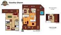 UNIT LAYOUT at COUNTRY CHARM in Sevier County TN