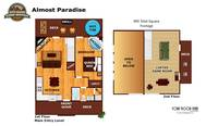 UNIT LAYOUT at ALMOST PARADISE in Sevier County TN