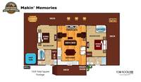 UNIT LAYOUT at MAKIN MEMORIES in Sevier County TN
