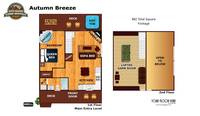 UNIT LAYOUT at AUTUMN BREEZE in Sevier County TN