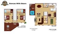 UNIT LAYOUT at XDANCES WITH BEARS in Sevier County TN