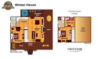 UNIT LAYOUT at WINTER HAVEN in Sevier County TN