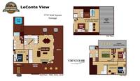 UNIT LAYOUT at LECONTE VIEW in Sevier County TN
