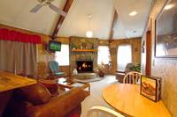 LIVING AREA at BEAR HUGS in Sevier County TN