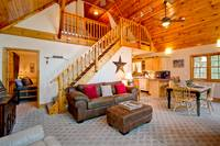 LIVING AREA at MOUNTAIN TREASURE in Sevier County TN