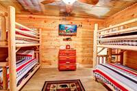 BEDROOM 9 (2 SETS OF TWINK BUNKS/DOWNSTAIRS) at ALL-AMERICAN in Gatlinburg TN