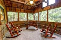 ROCKERS ON SCREENED IN DECK (MAIN LEVEL) at ALL-AMERICAN in Gatlinburg TN